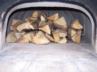 Wood oven: Drying wood