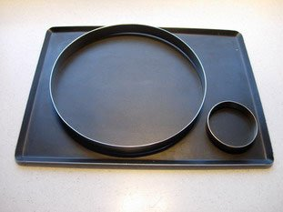 Tart rings, moulds or tins
