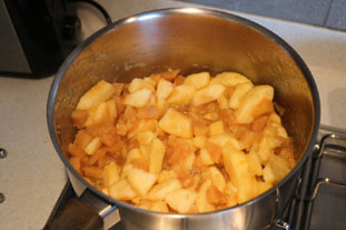 Quince and apple compote : Photo of step #6