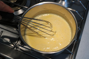 Pistachio confectioner's custard : Photo of step #4