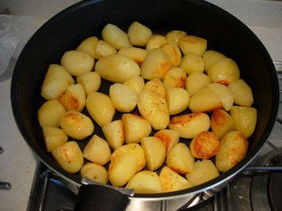 Pan-fried potatoes : Photo of step #5