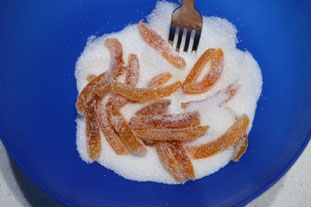 Candied grapefruit peel : Photo of step #9