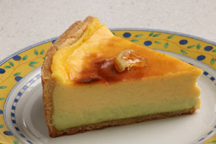 Lemon and lime custard tart