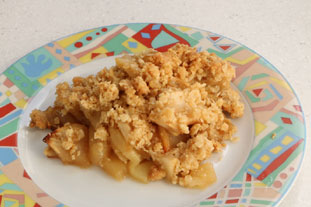 Canadian apple crumble