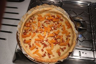 Crusty pistachio, almond and apricot flan : Photo of step #15