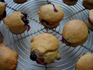 Blackcurrant-almond muffins : Photo of step #26