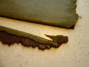 Chocolate and matcha tea biscuits : Photo of step #11