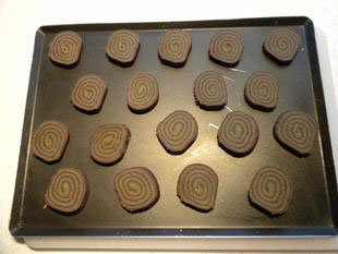 Chocolate and matcha tea biscuits : Photo of step #16