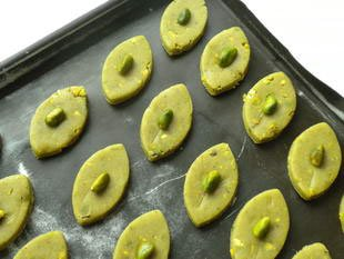 Pistachio shortbread biscuits : Photo of step #6