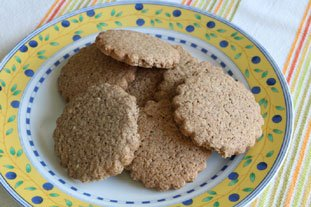 Buckwheat almond biscuits