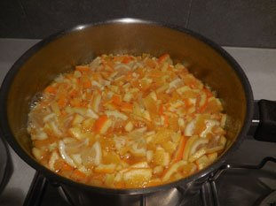Quick orange marmalade : Photo of step #7