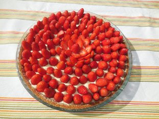Strawberry Verveine Tart