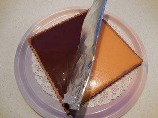 Two-coloured chocolate-orange tart : Photo of step #11