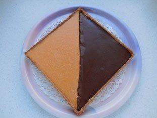 Two-coloured chocolate-orange tart : Photo of step #12