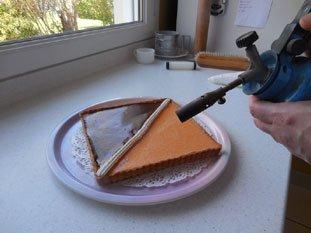 Two-coloured chocolate-orange tart : Photo of step #15