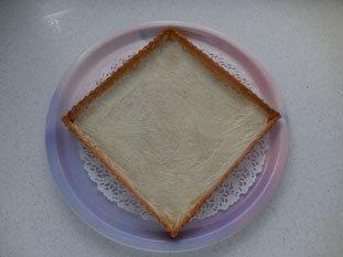 Two-coloured chocolate-orange tart : Photo of step #8
