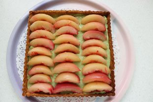 Peach and green tea tart : Photo of step #6