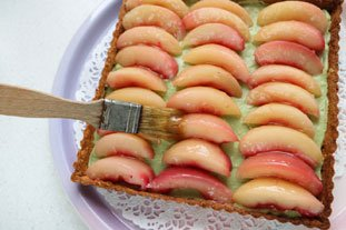 Peach and green tea tart : Photo of step #7