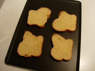 Brioche slices with almond cream : Photo of step #1