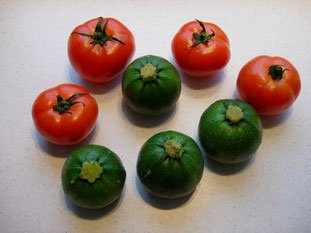 Stuffed tomatoes and courgettes : Photo of step #1