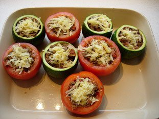 Stuffed tomatoes and courgettes : Photo of step #18
