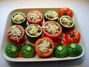 Stuffed tomatoes and courgettes : Photo of step #19