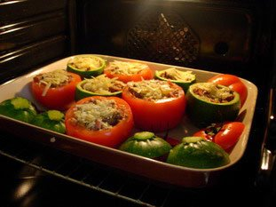 Stuffed tomatoes and courgettes : Photo of step #20
