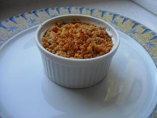 Sausage mushroom and cheese crumble