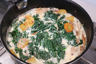 Chicken with spinach in a cream sauce  : Photo of step #7