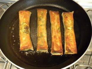 Crispy spinach rolls : Photo of step #10