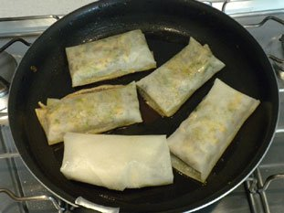 Chicken and mushroom brik rolls : Photo of step #11