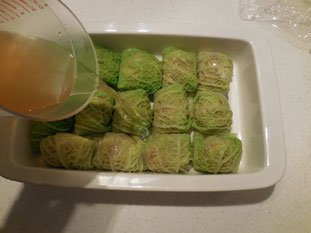 Stuffed cabbage leaves : Photo of step #12