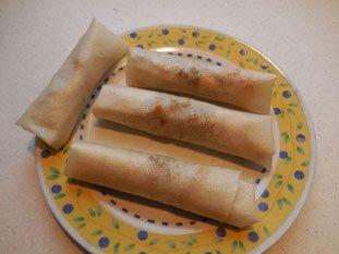 Algerian brik rolls : Photo of step #9