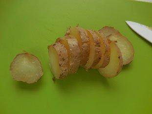 Potatoes with smoked salmon : Photo of step #1