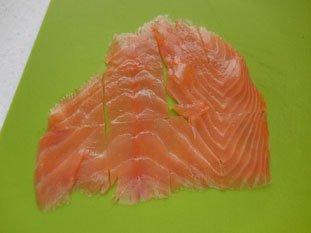 Potatoes with smoked salmon : Photo of step #2