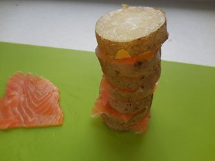 Potatoes with smoked salmon : Photo of step #3