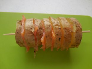 Potatoes with smoked salmon : Photo of step #4