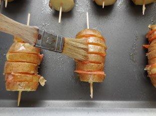 Potatoes with smoked salmon : Photo of step #6