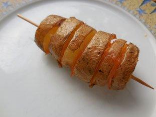Potatoes with smoked salmon : Photo of step #7