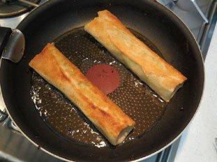 Crispy potato and mushroom brik rolls : Photo of step #12