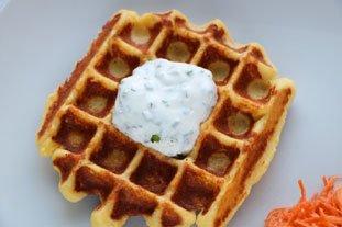 Potato Waffles with Smoked Salmon : Photo of step #8
