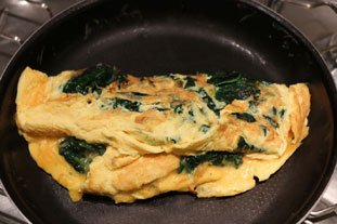Spinach Omelette : Photo of step #8