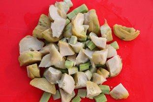 Mushroom and artichoke omelette : Photo of step #4