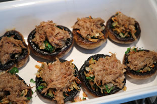 Rillettes stuffed mushrooms : Photo of step #10