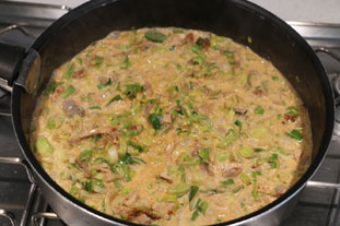Tandoori-flavoured chicken with leeks : Photo of step #7