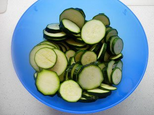 Courgettes (zuchinis)  : Photo of step #2