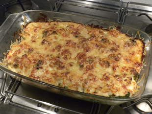 Potato and broccoli gratin