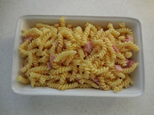 Ham pasta bake : Photo of step #3