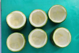 Quick stuffed courgettes : Photo of step #2