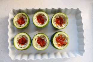 Quick stuffed courgettes : Photo of step #3